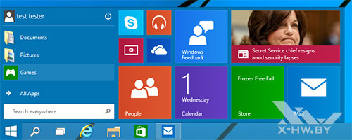 Меню Пуск в Windows 10 может принимать разные размеры