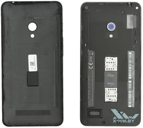 Разъемы для SIM-карт на ASUS Zenfone 5