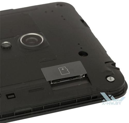 Разъемы для карты памяти microSD на ASUS Zenfone 5