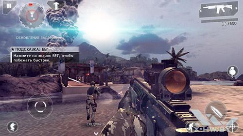 Игра Modern Combat 4 на ASUS Zenfone 5
