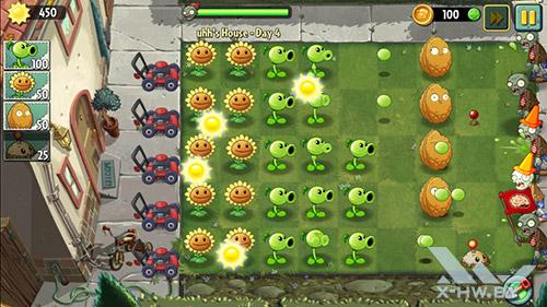 Игра Plants vs Zombies 2 на ASUS Zenfone 5