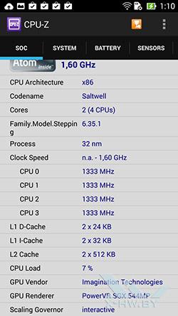 Процессор ASUS Zenfone 5