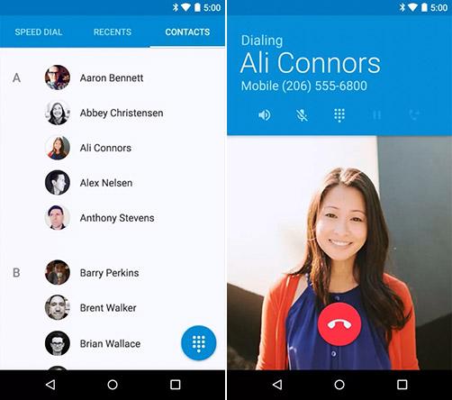 Звонилка в Android 5.0