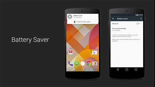 Android 5.0 добавляет режим Battery Saver