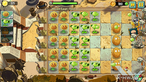 Игра Plants vs Zombies 2 на Samsung Galaxy Note 4