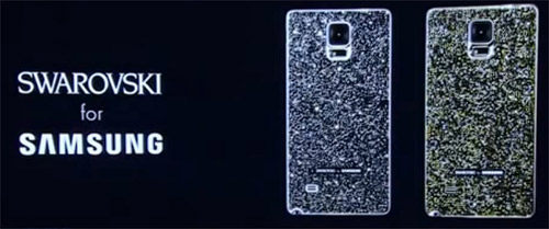 Крышка с кристаллами Сваровскидля Samsung Galaxy Note 4