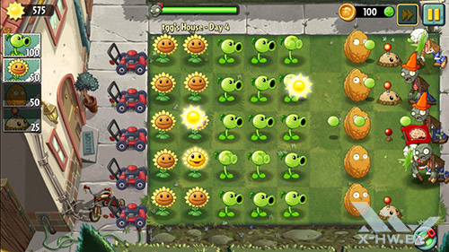 Игра Plants vs Zombies 2 на Huawei Honor 3