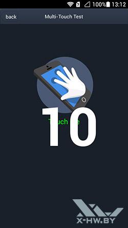 Число касаний, распознаваемых экраном Huawei Honor 3