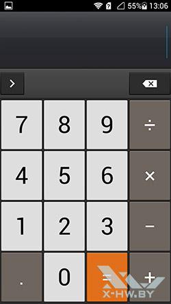 Калькулятор на Huawei Honor 3. Рис. 1