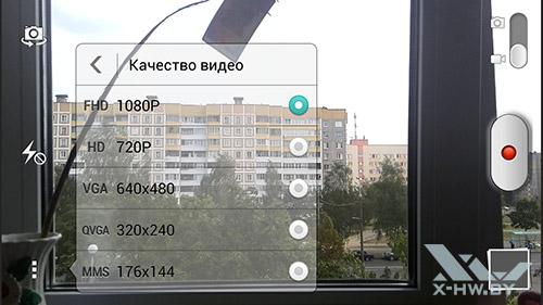 Разрешение видео камеры Huawei Honor 3
