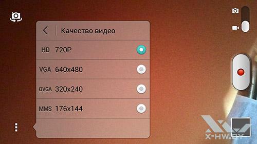 Разрешение видео фронтальной камеры Huawei Honor 3