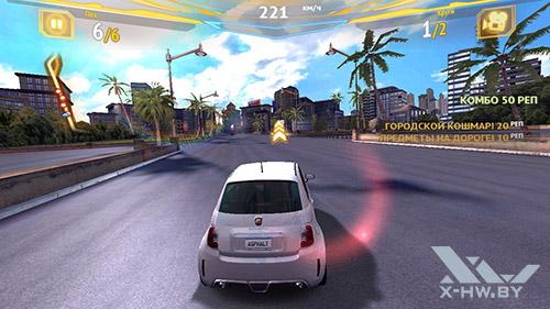 Игра Asphalt 7 на Highscreen Omega Prime S