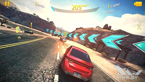 Игра Asphal 8 на Highscreen Omega Prime S