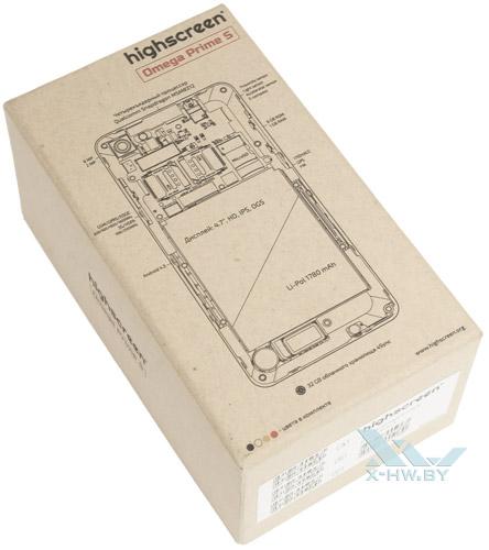 Коробка Highscreen Omega Prime S