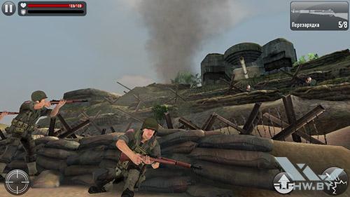Игра Frontline Commando: Normandy на Highscreen Omega Prime S