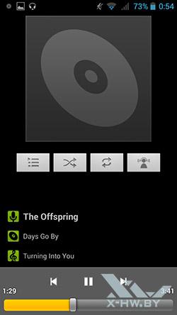 Музыкальный плеер на Highscreen Omega Prime S
