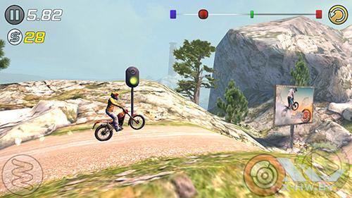 Игра Trial Xtreme 3 на Highscreen Omega Prime S
