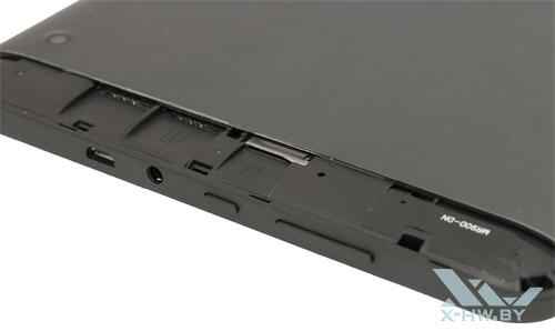 Разъемы для SIM-карт и microSD на TurboPad 912