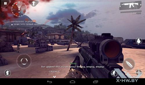 Игра Modern Combat 4: Zero Hour на TurboPad 912