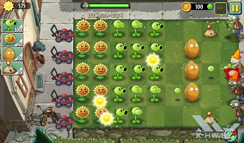 Игра Plants vs Zombies 2 на TurboPad 912
