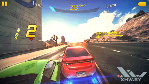 Игра Asphalt 8 на Turbo X Dream
