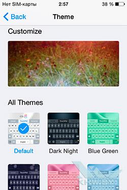 TouchPal в iOS 8. Рис. 3
