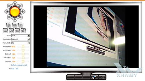 Просмотр видео с камеры Zodiak IP909IW в браузере