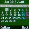 Календарь на Samsung GT-E1200R. Рис. 1