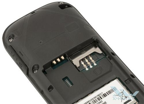 Разъем для SIM-карты на Samsung GT-E1200R