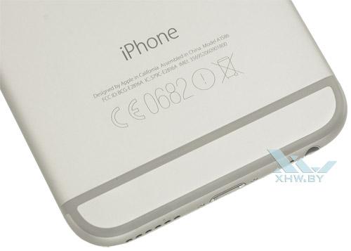 Задняя крышка Apple iPhone 6 снизу