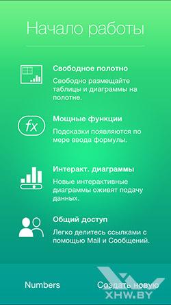 Numbers на Apple iPhone 6. Рис. 2