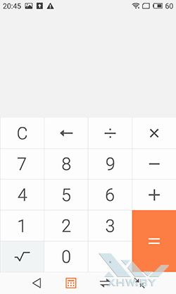 Калькулятор на Meizu MX4. Рис. 1