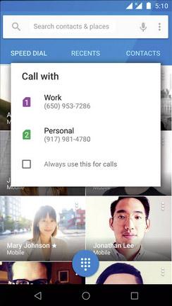 Android 5.1 поддерживает несколько SIM-карт