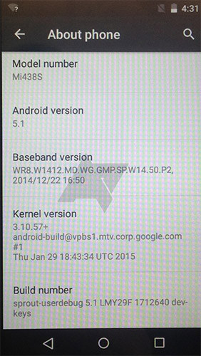 Версия Android 5.1