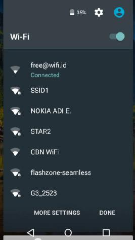 Выбор сети Wi-Fi в Android 5.1