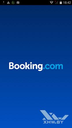 Клиент Booking.com на Prestigio MultiPhone 5517 DUO. Рис. 1