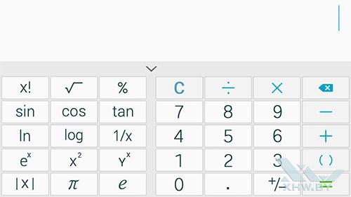 Калькулятор на Samsung Galaxy E5. Рис. 2