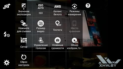 Параметры камеры Samsung Galaxy E5