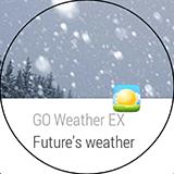 Уведомление от GO Weather EX на LG G Watch R. Рис. 1