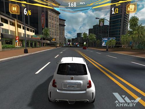 Игра Asphalt 7 на Samsung Galaxy Tab A 8.0