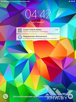 Экран блокировки Samsung Galaxy Tab A 8.0. Рис. 1