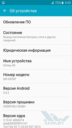 О Samsung Galaxy S6