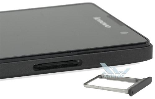 Отсек для SIM-карты на Lenovo P90