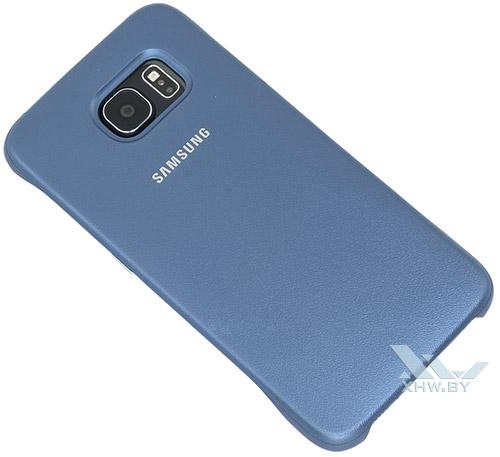 Protective Cover для Galaxy S6 синего цвета. Вид сзади