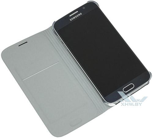 Flip Wallet для Galaxy S6 в раскрытом виде