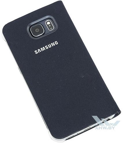 Flip Wallet для Galaxy S6 синего цвета. Вид сзади