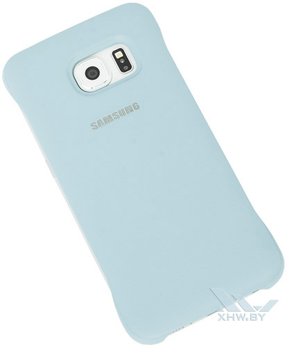 Голубой Protective Cover для Galaxy S6 edge. Вид сзади