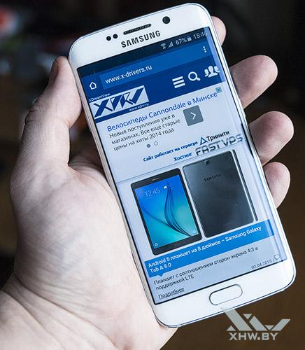 Изображение Samsung Galaxy S6 edge заходит на торцы экрана