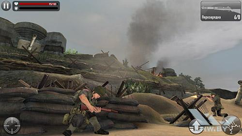 Игра Frontline Commando: Normandy на Samsung Galaxy S6 edge