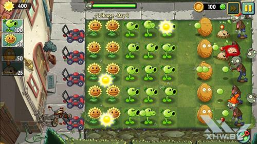 Игра Plants vs Zombies 2 на Samsung Galaxy S6 edge